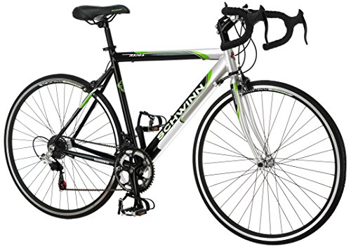 Schwinn Men's Axios 700c Drop Bar Road Bicycle, Silver/Black/Green, 21.5-Inch Frame/55CM Best Price