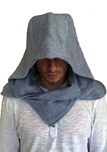 Assassin's Creed 3 Cosplay Costume (assassins creed callum lynch aguilar movie outfit hidden blade cosplay costume hood hoodie (Grey))