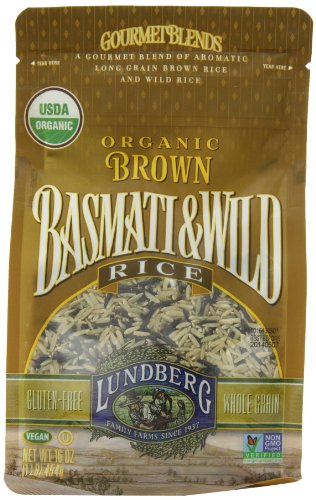 Lundberg Family Farms Organic Rice, Brown Basmati and Wild, 16 Ounce (Pack of 6) by Lundberg