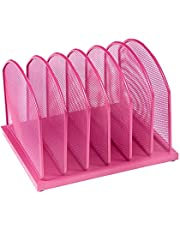 """Pro Space Mesh Desk Organizer 6 Sort Vertical Desktop File Organizer,Document Letter Tray for Office or Home,6 File Folders and a Note for Free, 12.49""""11.2""""8.66"""""""