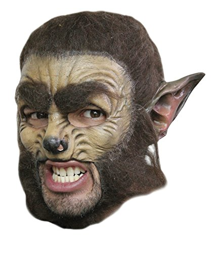 Wolf Chinless Deluxe Scary Monster Horror Latex Adult Halloween Costume Mask (Deluxe Wolf Mask Adult Latex)
