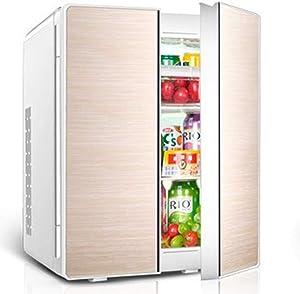 WUAZ 25L Car Small Refrigerator, Car Home Dual-Purpose Dual-Door Mini Electronic Fridge, Cooler & Warmer/Compact, Portable and Quiet/AC+DC