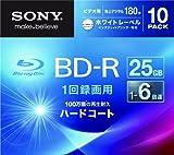 Sony Blu-ray Disc | BD-R 25GB 6x - Ink-jet Printable 10 Pack | 10BNR1VGPS6 (Japanese Import)