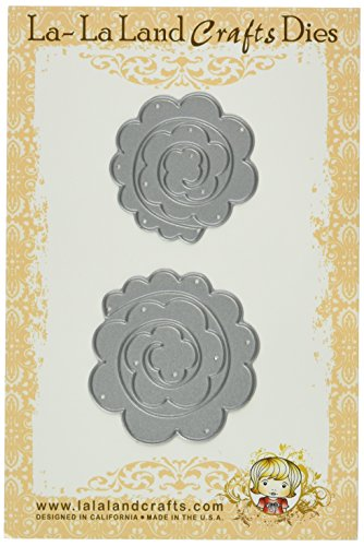 La-La Land Crafts Die-Rolled Rose, 1.75-Inch by 1.75-Inch and 2-Inch by 2-Inch, 2-Pack