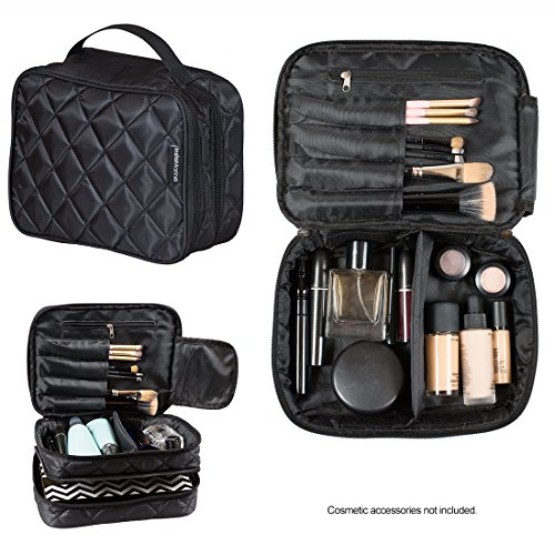 InstaMarine Premium Travel Makeup Bag Cosmetic Case Organize