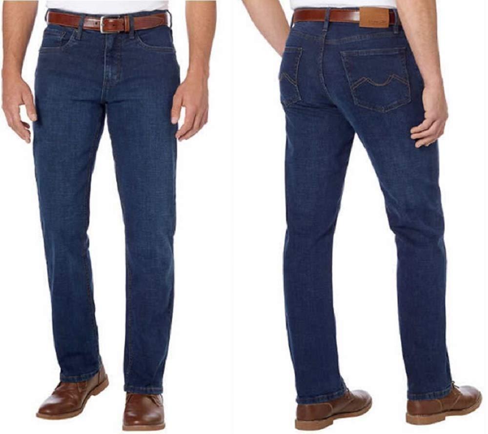 30W x 30L, Dark Blue Urban Star Mens Relaxed Fit Straight Leg Jeans