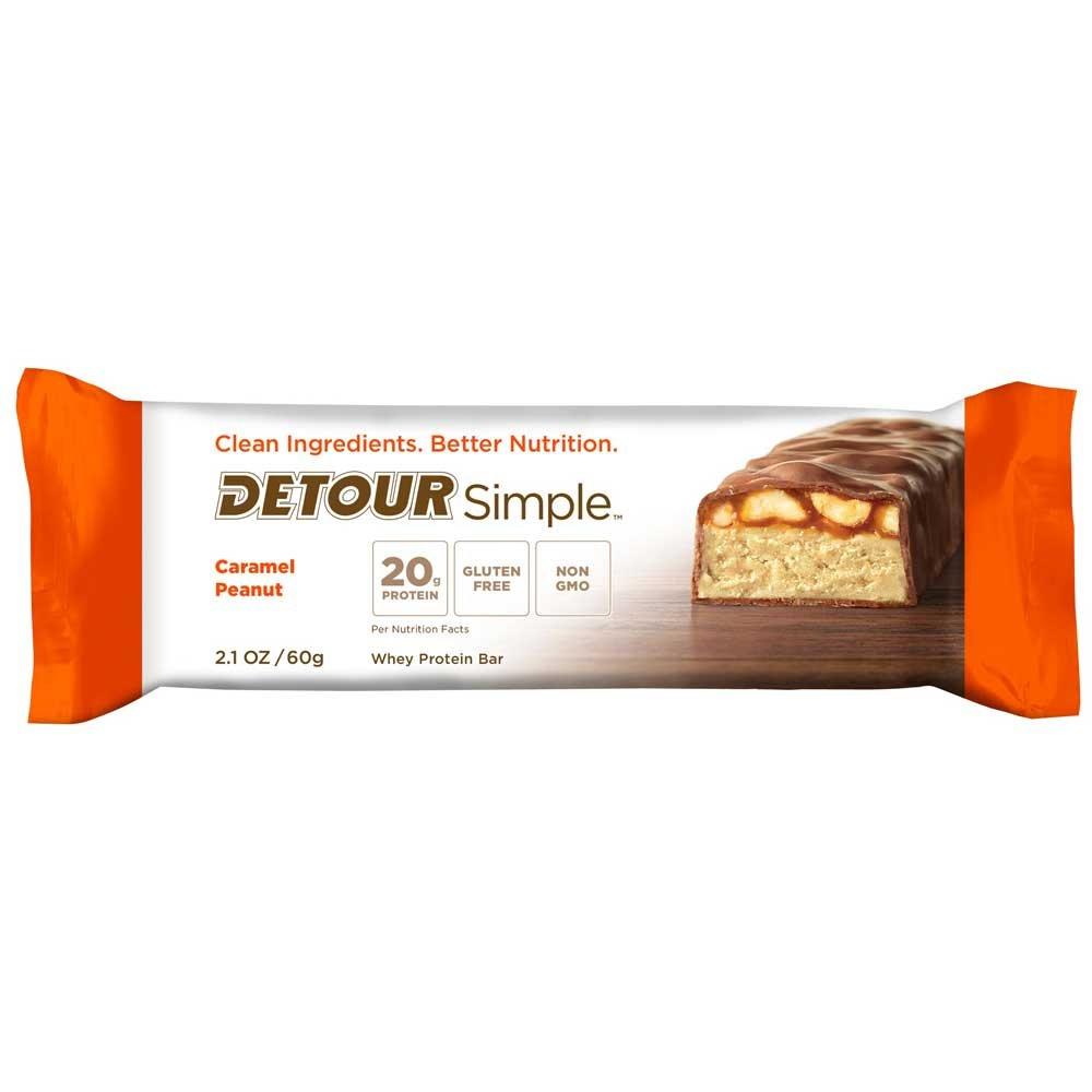 Detour Simple Caramel Peanut Whey Protein Bar, 60 Gram -- 48 per case. by Detour