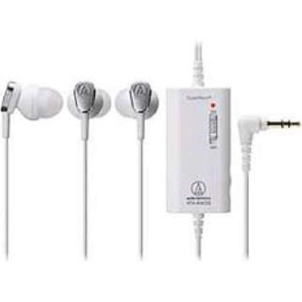 Audio-Technica ATH-ANC23 WH Blanco Intraaural Dentro de oído Auricular: Amazon.es: Electrónica