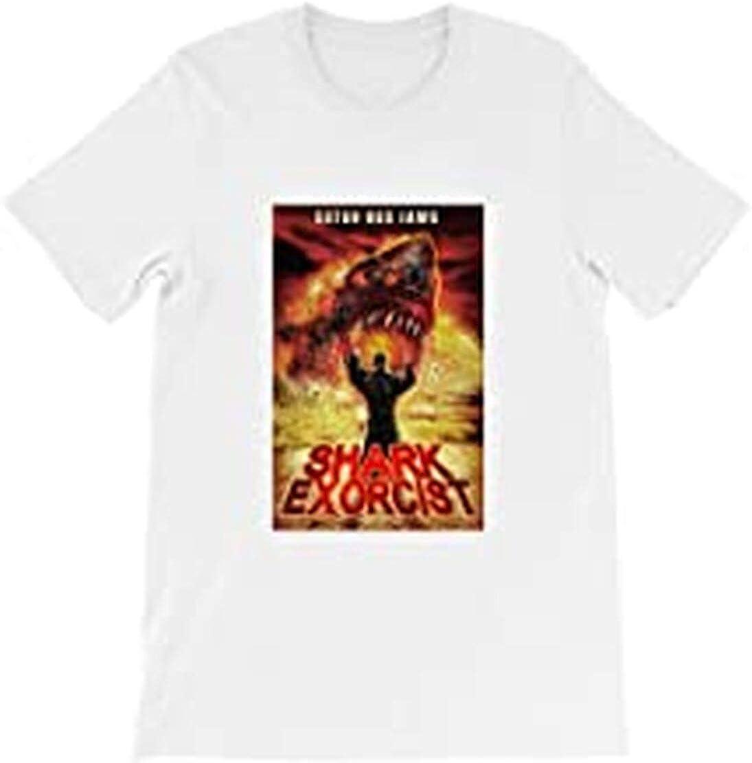 Shark Exorcist Horror Terror Thriller Movie Film Halloween Hollywood Cinema Graphic Gift for Men Women Girls Unisex T-Shirt
