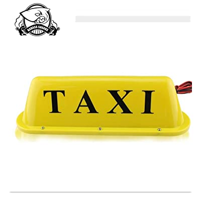 Car Taxi Cab Roof Top Light Yellow Illuminated Sign Topper Car 12V Car Magnetic Top Light Waterproof: Home Improvement
