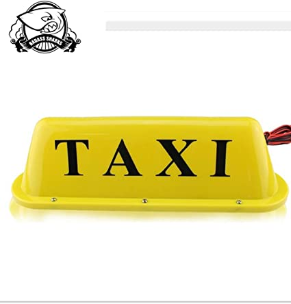 Amazon.com: Taxi Roof parte superior Amarillo con Cartel con ...