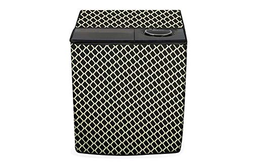 Stylista Washing Machine Cover Suitable for AmazonBasics 7.5 kg semi Automatic Top Load Argyle Pattern Brown