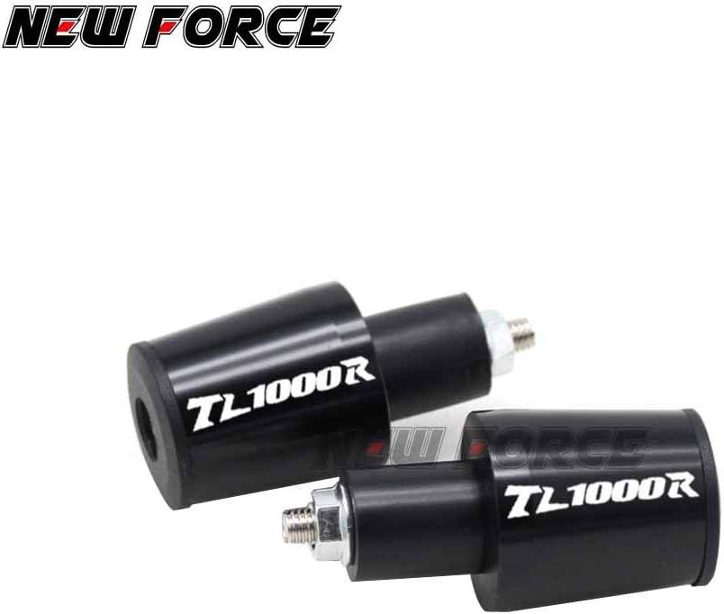 Occus Grips CNC 22MM Handlebar Grips Handle Bar Cap End Plugs for Suzuki TL1000R TL 1000R 1998 1999 2000 2001 2002