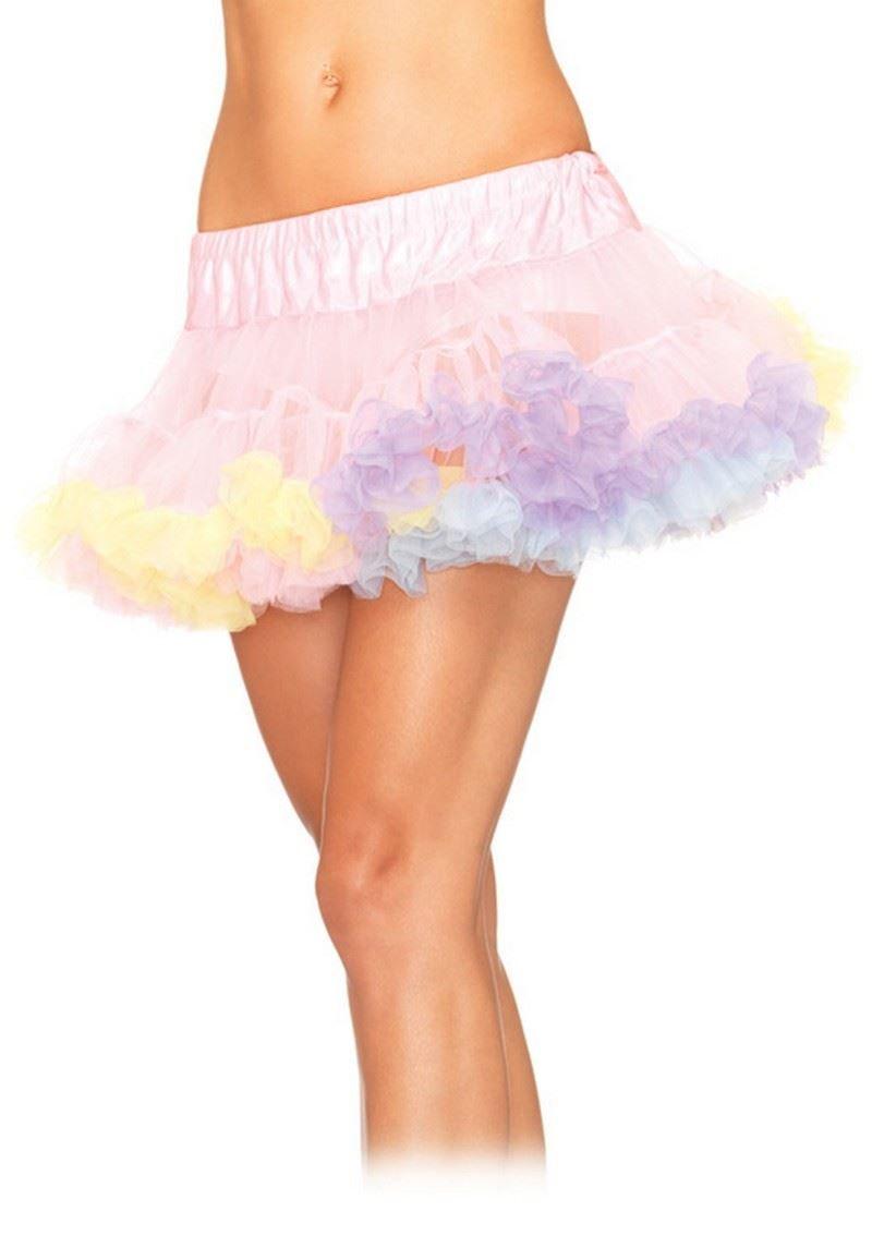 Leg Avenue Petticoat Mini - Falda de tul, multicolor, talla única ...