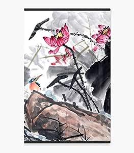 لوحة فنية جدارية لديكور المنزل مطبوعة على قماش كانفاس مع اطار خشبي مقاس 40X60 سم
