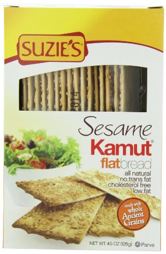 amut Sesame, Low Fat, 4.5-Ounce Boxes (Pack of 12) (Suzies Flatbread)