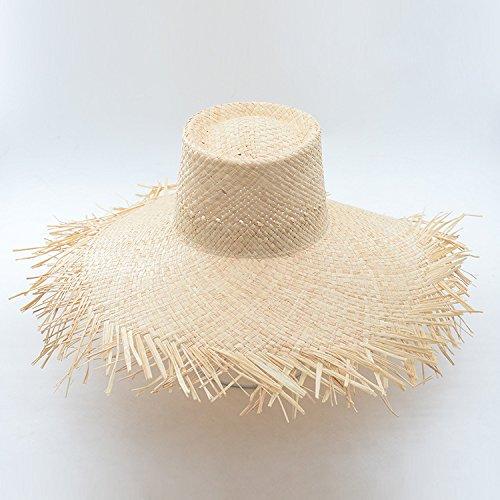 ALWLj Bucket Hat Summer Sun Hat for Women Frayed Edge Raffia Straw Beach Hat Hot Fashion Floppy Hats