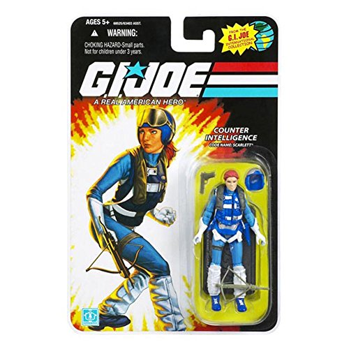 G.I. Joe, 25th Anniversary Action Figure, Counter Intelligence Code Name: Scarlett (Pilot Outfit), 3.75 Inches -