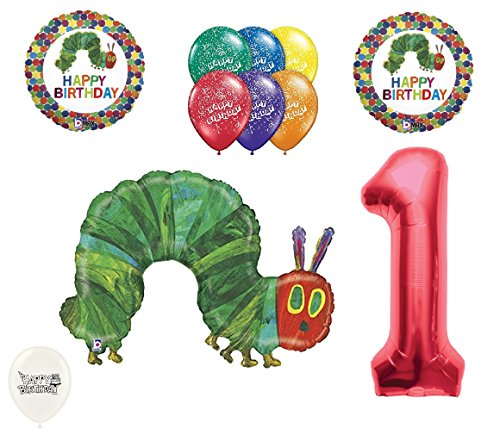 1st First Birthday The Very Hungry Caterpillar Balloons Party Bouquet Bundle for $<!--$19.99-->