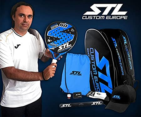 Pack de Padel Steel Custom GD Edición Limitada Eva Soft Plus Azul: Amazon.es: Deportes y aire libre