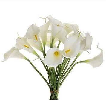 Amazon.com: Elevin(TM) Mini Artificial Calla Lily Wedding Flowers ...