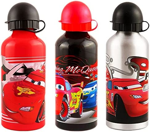 Cars, Rayo McQueen – aluminio botellas, pack de 3: Amazon.es: Hogar
