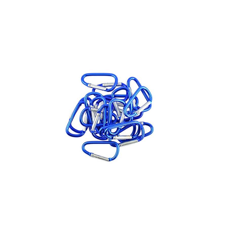 MonkeyJack 40pcs Mini Climbing Carabiner Buckle Snap Spring Clip Hook Keychain Findings