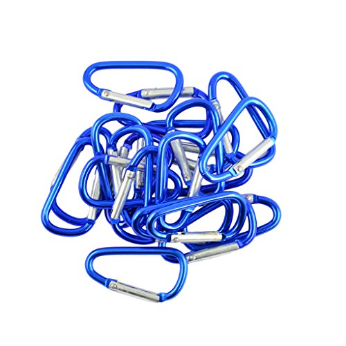 MonkeyJack 40pcs Mini Climbing Carabiner Buckle Snap Spring Clip Hook Keychain Findings
