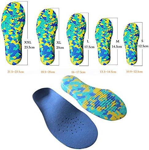 Houer Kinder Kinder Plattfüße Fußgewölbe Einlegesohlen Orthesen Orthopädische Schuheinlagen, XL