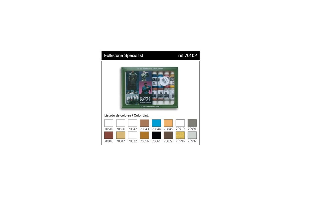 Model Color Paint Set - Folkstone Special Colors