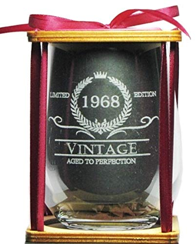 Vintage 1969 Limited Edition - Aged To Perfection Engraved Stemless Wine Glass
