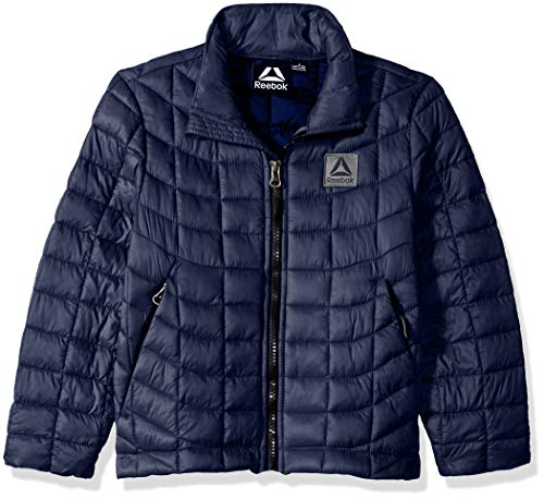 Reebok Boys' Little Active Jacket with Glacier Shield, Navy, 7