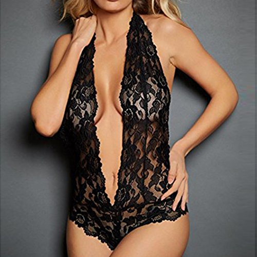 Tsmile Hot Sale{Womens Halter Lingerie}❤️Clearance✿{Lace}Underwear{Plus Size}Siamese/Babydoll/G-String Nightwear at Amazon Womens Clothing store: