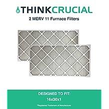 2 MERV 11 Allergen Air Furnace Filters 16x30x1
