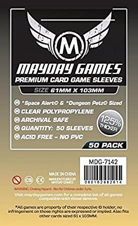 50 Mayday 61 x 103 Space Alert & Dungeon Petz Premium Card ...