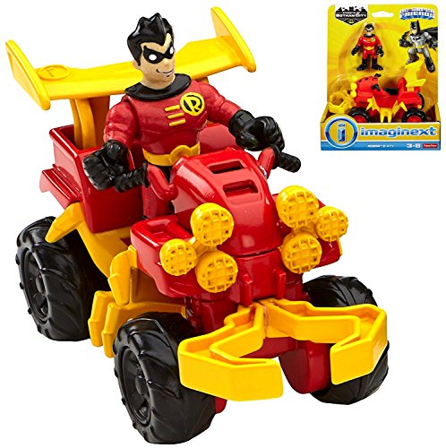 Robin & ATV DC Super Friends Streets of Gotham City Imaginext