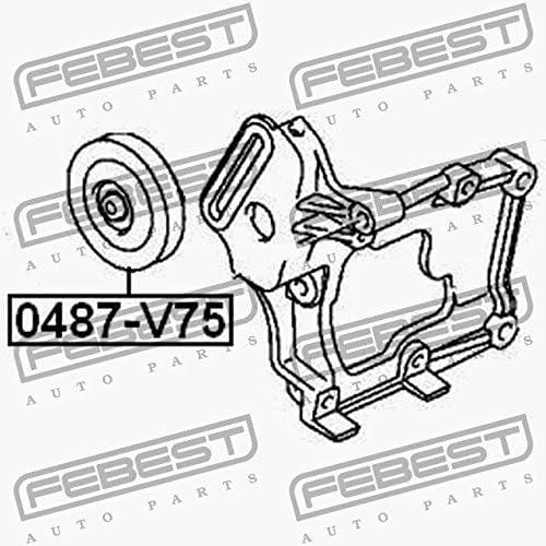 FEBEST 0487-V75 Polea intermedia