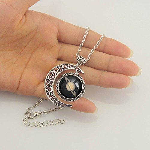Moon jewelry SATURN Planet pendant necklace SATURN necklace SATURN Planet necklace Charm SATURN pendant Photo #5