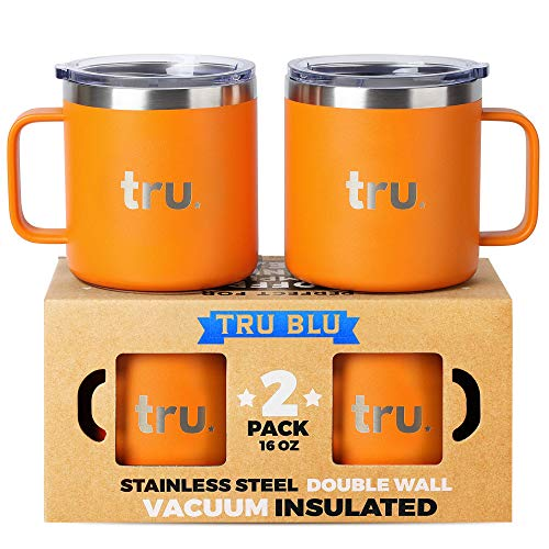 Large Stainless Steel Vacuum Insulated Coffee Mugs with Lids 16