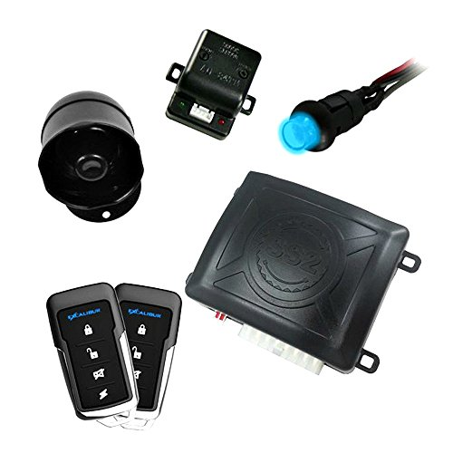Excalibur 1-Way Paging Keyless Entry Car Security System w/ Two 4-Button Remotes (Excalibur Alarm)