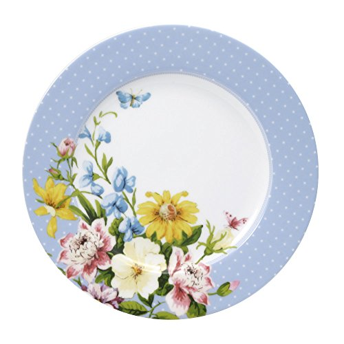 Katie Alice English Garden Blue Rim Salad Plate ()