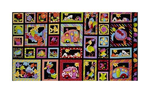 E. E. Schenck Loralie Designs Happy Camper 24'' Panel, Black by E.E. Schenck