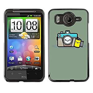 LECELL--Funda protectora / Cubierta / Piel For HTC G10 -- Photographer Film Smile --