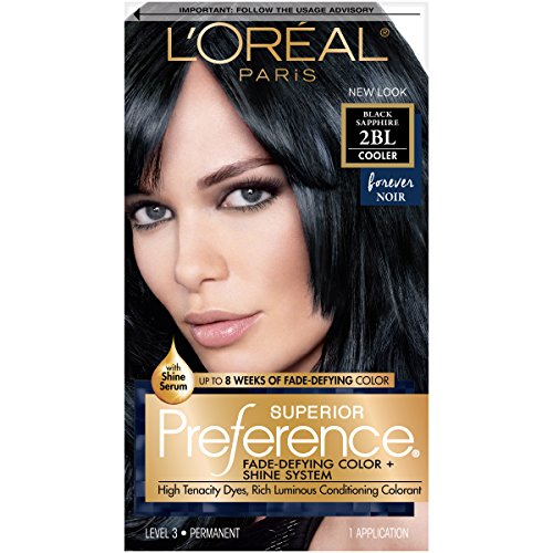 L'Oréal Paris Superior Preference Fade-Defying + Shine Permanent Hair Color, 2BL Black Sapphire, 1 kit Hair Dye