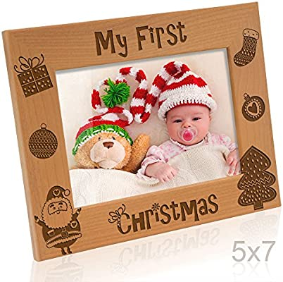 Amazon Kate Posh My First 1st Christmas Picture Frame