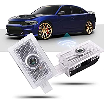 Amazon.com: Luz LED con logotipo para coche Dodge proyector ...