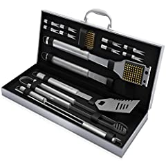 The BBQ Grill Tool Set by Home-Complete has all the essentials you need for a successful summer cookout! Each tool is made from high quality and durable stainless steel and is also rust resistant for long lasting use. The set includes a varie...