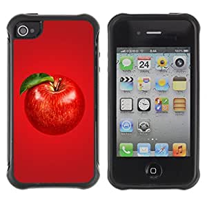 fashion Anti-Shock Defend Case for Apple iPhone 5s for kids / Beautiful Red APPLE
