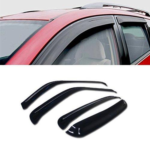 For 2001-2007 Chevy Silverado CREW CAB - SUN/RAIN/WIND GUARD SMOKE VENT SHADE DEFLECTOR WINDOW VISOR (Chevrolet Vent Visor)