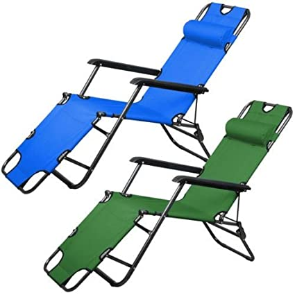 Amazon.com: 2 plegable silla con Patio Césped Piscina al ...